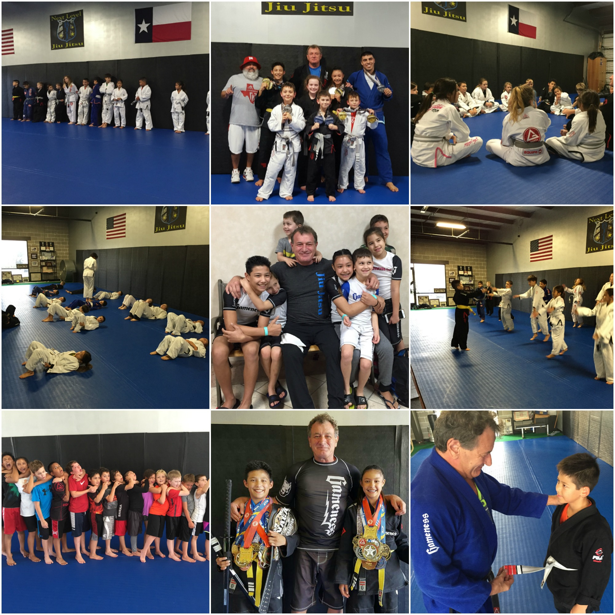 Next Level Jiu Jitsu Kids Program Collage